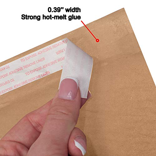 AMZ Supply Natural Kraft bubble mailers 6x9 Brown Padded envelopes 6 x 9 by Amiff. Pack of 20 Kraft Paper cushion envelopes. Exterior size 7x10 (7 x 10). Peel and Seal. Mailing, shipping, packaging. Photo #4