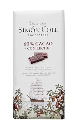 Chocolates Simón Coll Chocolate leche 60% Cacao - 10 Unidades x 85g