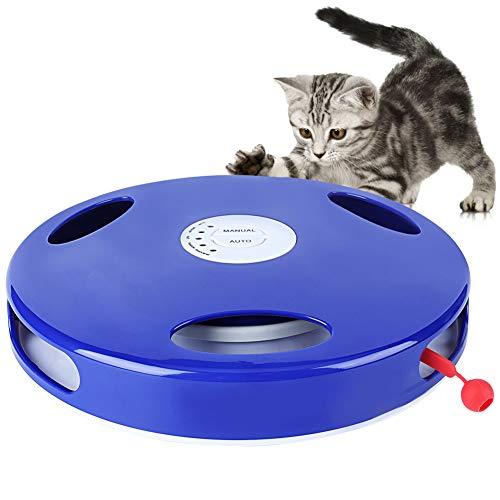 Spielzeug für Katzen, 5 Geschwindigkeitsstufen, interaktives, manuell, mit drehender Feder, lustiges Spielzeug für Katzen, Schwanz Spin (Batterien Nicht im Lieferumfang enthalten)