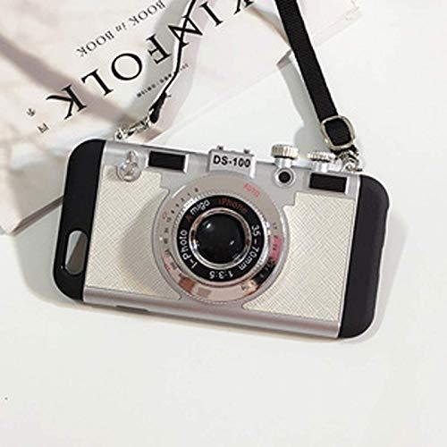 Para iPhone X XS Max XR 11 Pro 7 8 Plus 6 6s SE 2020, la misma funda de teléfono con cámara retro utilizada por Emily en París, funda de silicona lujosa y moderna