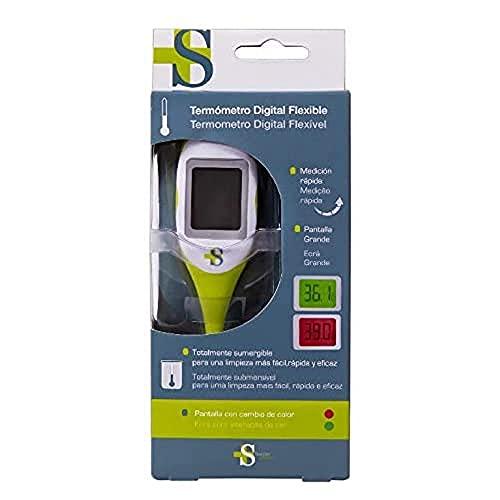 Sanitec BC0509 - Termometro Digital Pantalla Grande y Retroiluminable, color verde, blanco y gris