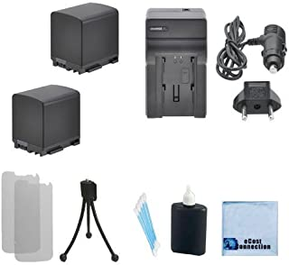 2 BP-819 Li-Ion Batteries Replacement For Canon + Car/Home Charger for XA10, Canon CG-800, CG800, BP-807, BP-808 & More. Camera + Complete Starter Kit