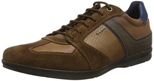 Geox U Adrien B, Zapatos de Cordones Derby para Hombre, Marrón (Browncotto C6003), 40 EU