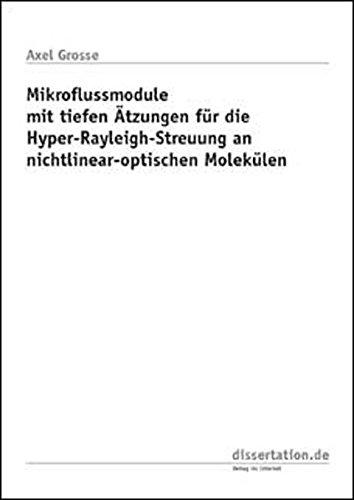 Mikroflussmodule mit tiefen Ätzungen für die Hyper-Rayleigh-Streuung an nichtlinear-optischen Molekülen (Dissertation Classic)