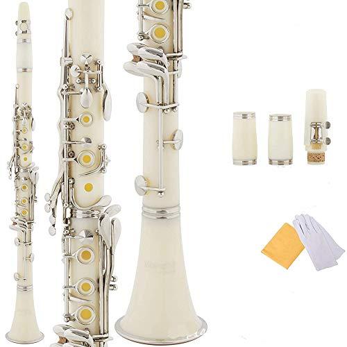 BLKykll Klarinette Mit 17 Klappen Anself (Für Holzblasinstrument) Klarinette Bb Flach