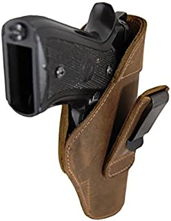 Barsony New Brown Leather Tuckable IWB Holster for Full Size 9mm 40 45