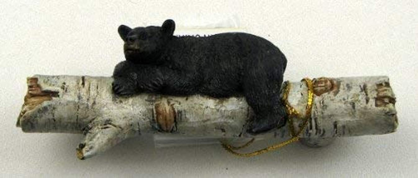Set of 6 Adorable Bear on a Birch Log Drawer Handles