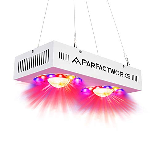 PARFACTWORKS 500W Full Spectrum COB LED Grow Light with Two Channels for Indoor Plant Garden Lighting Hydroponic Greenhouse