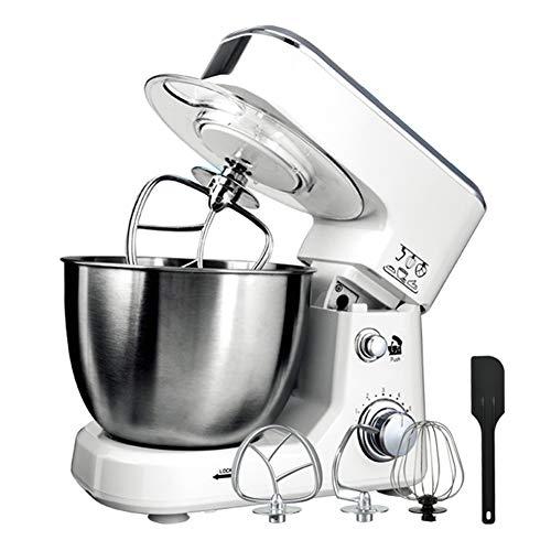 Keukenmachine Kneedmachine, 800W mixer, 6-speed elektrische mixer met kantelbare kop 4L roestvrijstalen mengkom Voor deeghaken, kloppers, gardes