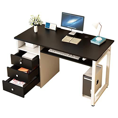 Computer Desk Tavolo in Legno con Cassetti E Ripiani Bagagli, Home Office Student Workstation Studio Scrivania Dressing Table for Camera Dorm