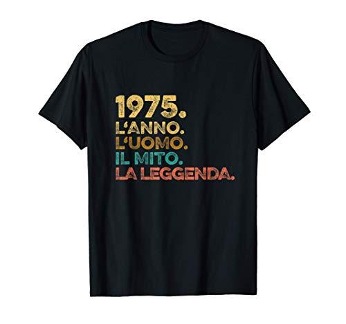 Uomo Anno Uomo Mito Leggenda - Compleanno Regalo Vintage 1975 Maglietta