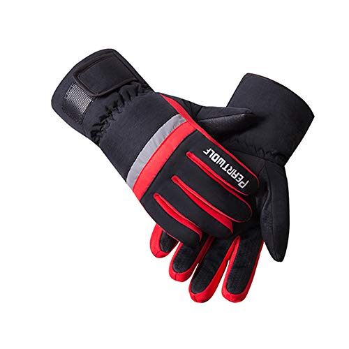 LIJUCH Winter Gloves Waterproof Windproof 3M Insulated Gloves 3 Fingers Dual-Layer Touchscreen Gloves for Men and Women