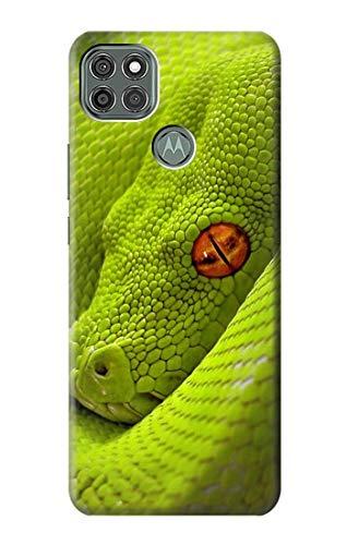 Innovedesire Green Snake Hülle Schutzhülle Taschen für Motorola Moto G9 Power