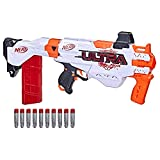 NERF Ultra Focus Motorized Blaster, 10-Dart Clip, 10 AccuStrike Ultra Darts, Stock, Compatible Only Ultra Darts (Amazon Exclusive)