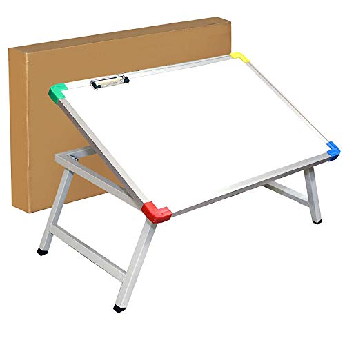 NISUN Multi Purpose Foldable Laptop Table White Study Table Writing Table for Office and Home (61 X 40 X 24 cm)