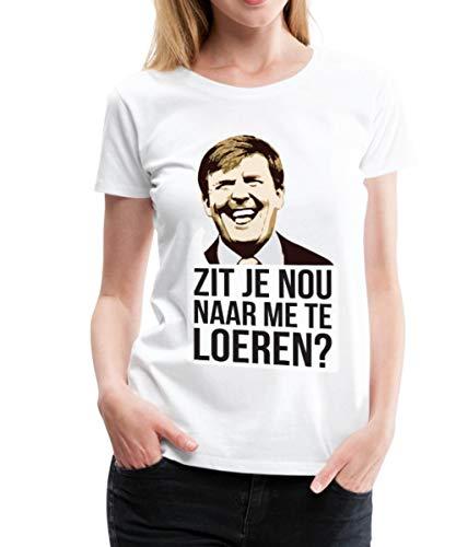 Spreadshirt Zit Je Nou Te Loeren Koningsdag Willem Vrouwen Premium T-shirt