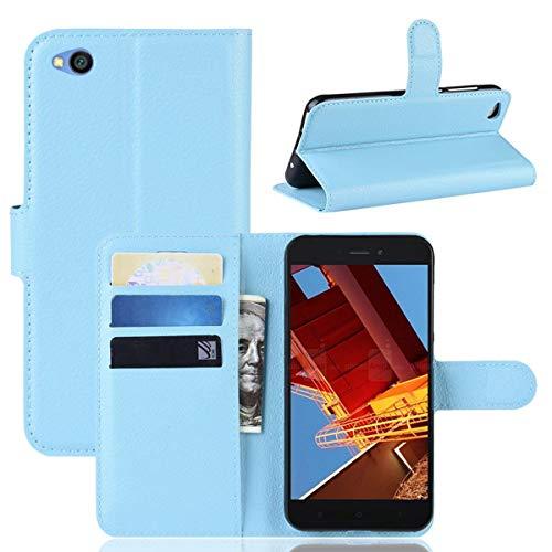 pinlu® Estuche para teléfono de Cuero PU, Utilizado para Xiaomi Redmi GO Estuche para teléfonos Inteligentes con función de Soporte y diseño de Ranura para Tarjeta Azul