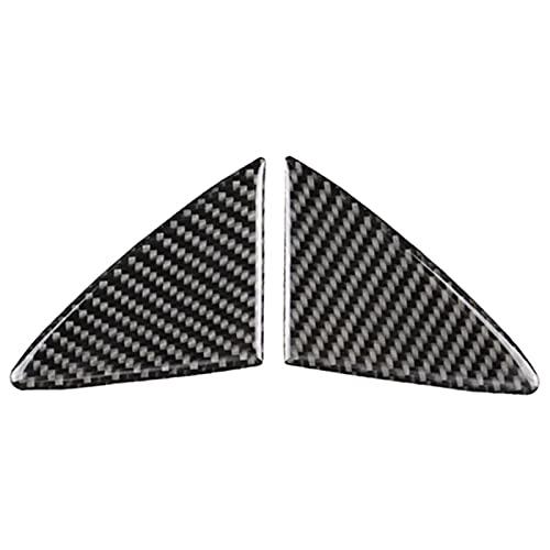LQDMDM Parrilla de la Parrilla, 2 Piezas de Fibra de Carbono con Fibra de Carbono para Mazda 3 AXELA 2014 2015 2016 Radiador de automóviles de la Parrilla de la Parrilla