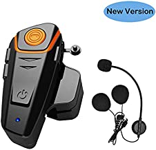 THOKWOK Motorcycle Bluetooth Headset, BT-S2 1000m Helmet Bluetooth Communication Systems Ski Helmet Headphones Bluetooth Intercom Walkie-Talkie for Snowmobile,Up to 3 Riders(Pack 1,New Version)