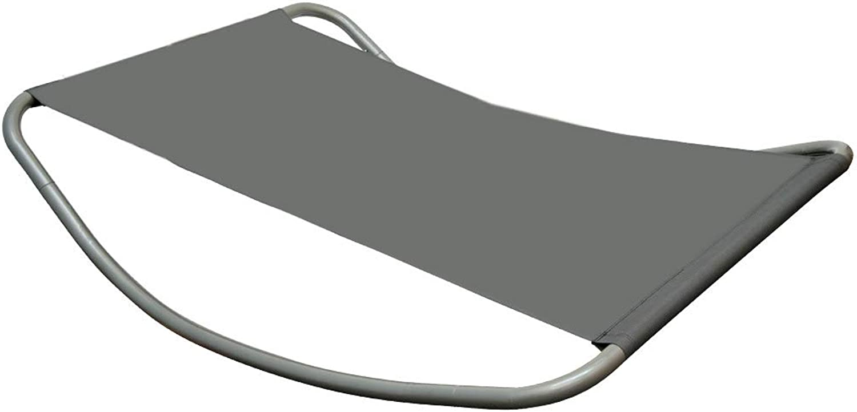 Gartenliege XXL Wippliege Sonnenliege in Grau  Extra gro ca. 200x130x32 cm  robustes Metallgestell  formstabile Bespannung  moderne Relaxliege mit Kopfkissen  Für Innen und Auenbereich