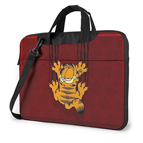 Laptop-Tasche Garfield Cartoon Katze Tablet Aktentasche Ultraportable Schutz-Canvas für 13 Zoll MacBook Pro/MacBook Air/Notebook Computer