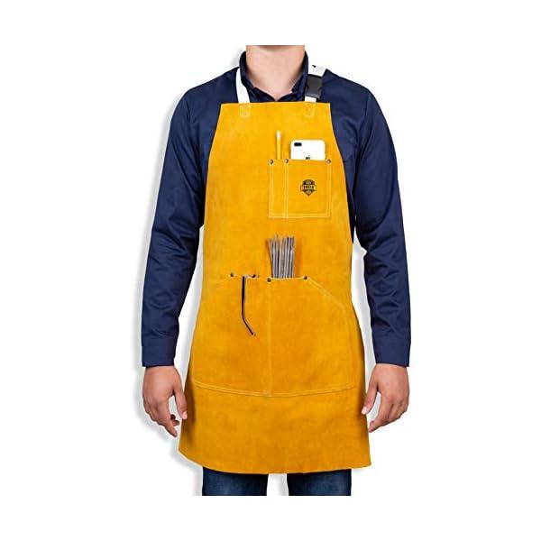 Heavy Duty Leather Welding Apron 1