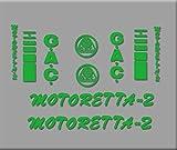 Ecoshirt 0B-9XNG-56GS Pegatinas Bicicleta Motoreta R303 Stickers Aufkleber Decals Autocollants Adesivi, Verde