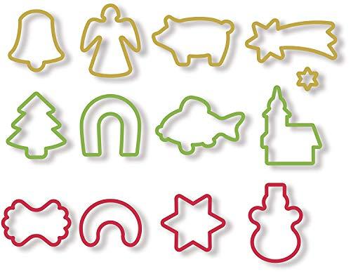 IBILI 733100 - Cortapastas con Expulsor Navidad (4 Pcs)