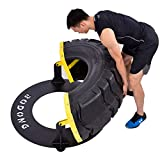 NENGGE Strength Training Equipment Fitness Tires Multi-Function Workout Flipping Tyre for Home Gym Exercise Hammer Training