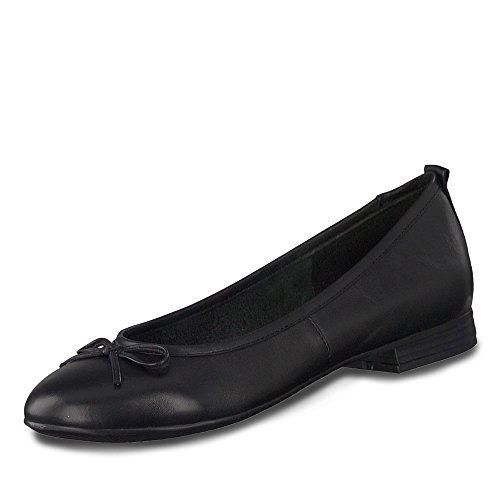 Tamaris Damen 1-1-22114-25 001 Ballerinas, schwarz, 42 EU