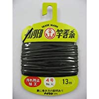 松柴吉保商店(イカリ印) ヘッダー付竿巻糸 4号極太 黒