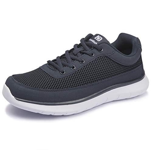 [NeedBo] NDB ウォーキングシューズ メンズ メッシュ 蒸れない ランニングシューズ 24.5〜30センチ スニーカー 運動靴 軽量 厚底 アウトドア カジュアル 通学 通勤 日常着用 ブルー 28cm