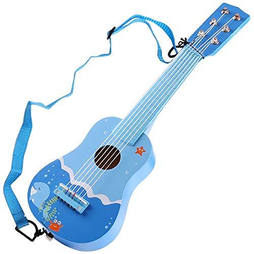 Lihgfw Children's Educatief speelgoed Boys and Girls 21-inch zes-snarige gitaar beginners kunnen muziekinstrumenten bespelen 3-6 Jaar oud-studenten Early Education Verlichting Verjaardagscadeau