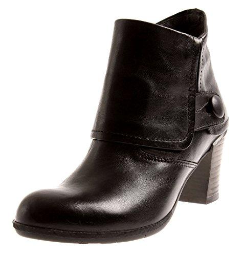 Wolky Elegante Stiefelette Boots Leder Damen Komfortschuhe Black 7732 Rio EU 38