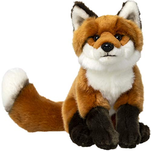 """FAO Schwarz 10"""" Fox Plush Stuffed Animal Toy, Ultra Soft and Snuggly Doll for Creative and Imagination Play, for Boys, Girls, Children Ages 3 and Up, Playroom & Nursery Pretend Pet Wolf"""