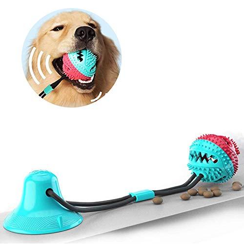 JahyElec Zahnbürsten-Stick, Hundespielzeug mit Saugnapf, Hundezahnbürste Kauspielzeug, Ball Leckerli-Spender für Hunde Welpen,Zahnreinigung mit Zahnpflege-Funktion für Hund