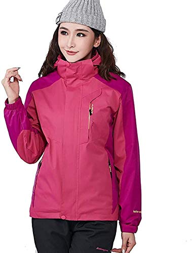 ZHAO Winter Berg Jacke Winddicht Warm Ski Snowboard-Jacke Paar Wear (Color : Purple, Size : 4XL)