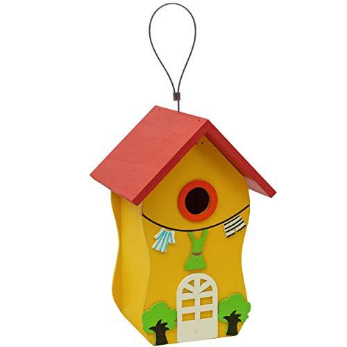 Gardigo Buntes Vogelhaus aus FSC Holz | Dekorativer Nistkasten zum aufhängen | Vogelhäuschen für Garten, Balkon, Terrasse