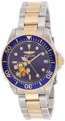 Invicta 24866 Character - Garfield Damen Uhr Edelstahl Automatik blauen Zifferblat