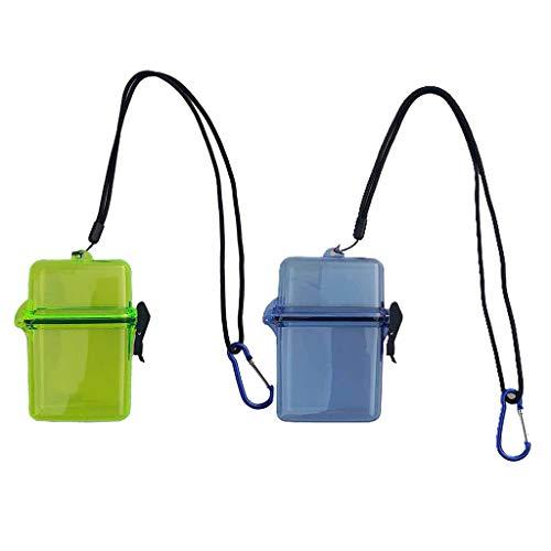 Milageto 2 recipientes secos amarillos + azules para el Snorkeling con cordón para el surf de vela