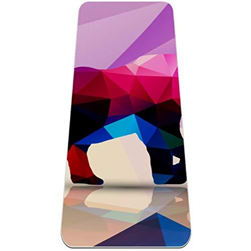 Esterilla Yoga Mat Antideslizante Profesional - Como triangulo - Colchoneta Gruesa para Deportes - Gimnasia Pilates Fitness - Ecológica