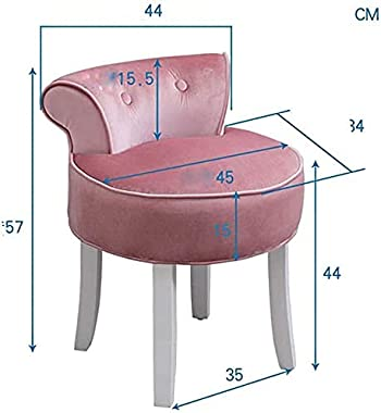 Dressing Table Stool Vanity Benches Chair Padded Lounge Makeup Dressing Chair Baroque Piano Chair with Solid Wood Legs, for L