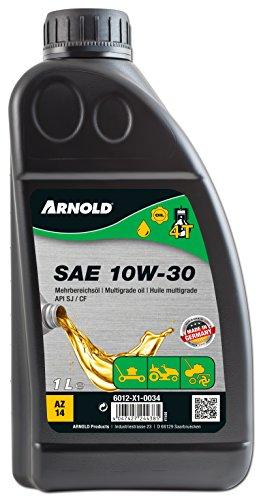ARNOLD Mehrbereichsöl SAE 10W-30 für 4-Takt Motorgeräte, 1 Liter 6012-X1-0034