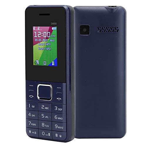 EBTOOLS1 Teléfono Celular de 1.8 Pulgadas, teléfono móvil con Pantalla LCD, Doble Tarjeta de Doble Modo de Espera, teléfono Celular con Llave Grande Bluetooth, teléfono para Personas Mayores(Azul)