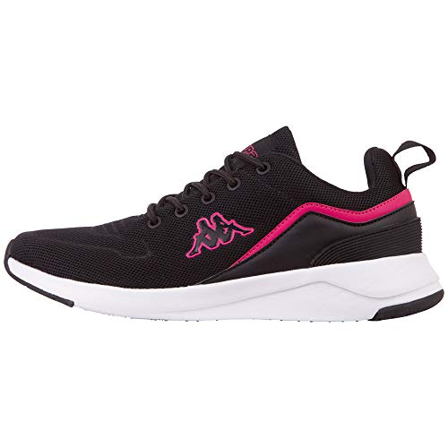 Kappa Darou Unisex Straßen-Laufschuh, 1122 Black/Pink, 42 EU