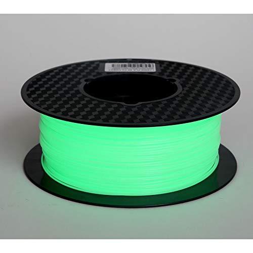 Excellente qualité Noctilucous 3D Printer Filament PLA 1.75mm 1 kg Noctilucent Matériel d'impression 3D Phosphorescent noctilucous bleu foncé vert Prix raisonnable ( Color : Noctilucent Green )