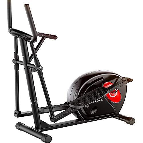 Lumiereholic Ellipsentrainer zu Hause mit Magnetwiderstand Indoor Race Course Ergometer Fitnessgeräte Stepper Crosstrainer Cardio-Training mit LCD-Display Schwungmasse Belastbarkeit
