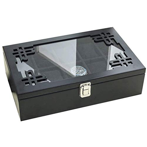 YUTRD ZCJUX Joyería de Caja - Caja de Vestir Simple de Madera Retro del Reloj del pequeño Anillo Pendientes Caja de Almacenamiento de Acabado Caja de Reloj Diez Paquete (Color : B)