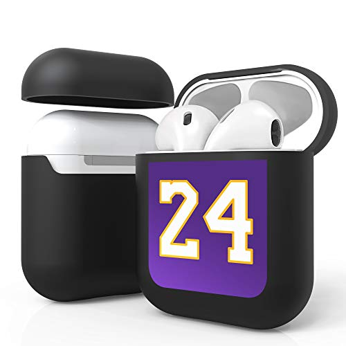 Customerfirst Airpods Case Protective Silicone Cover and AirPods Accessories Case Skin Compatible with Apple AirPods 2 and 1 (24 Purple)