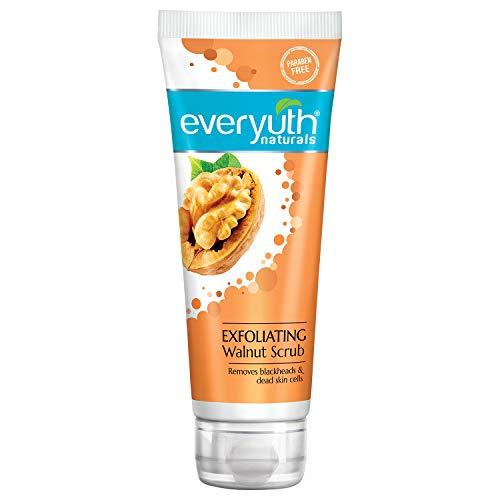 [Extra 5% off coupon] Everyuth Naturals Exfoliating Walnut Scrub, 100gm, Tube